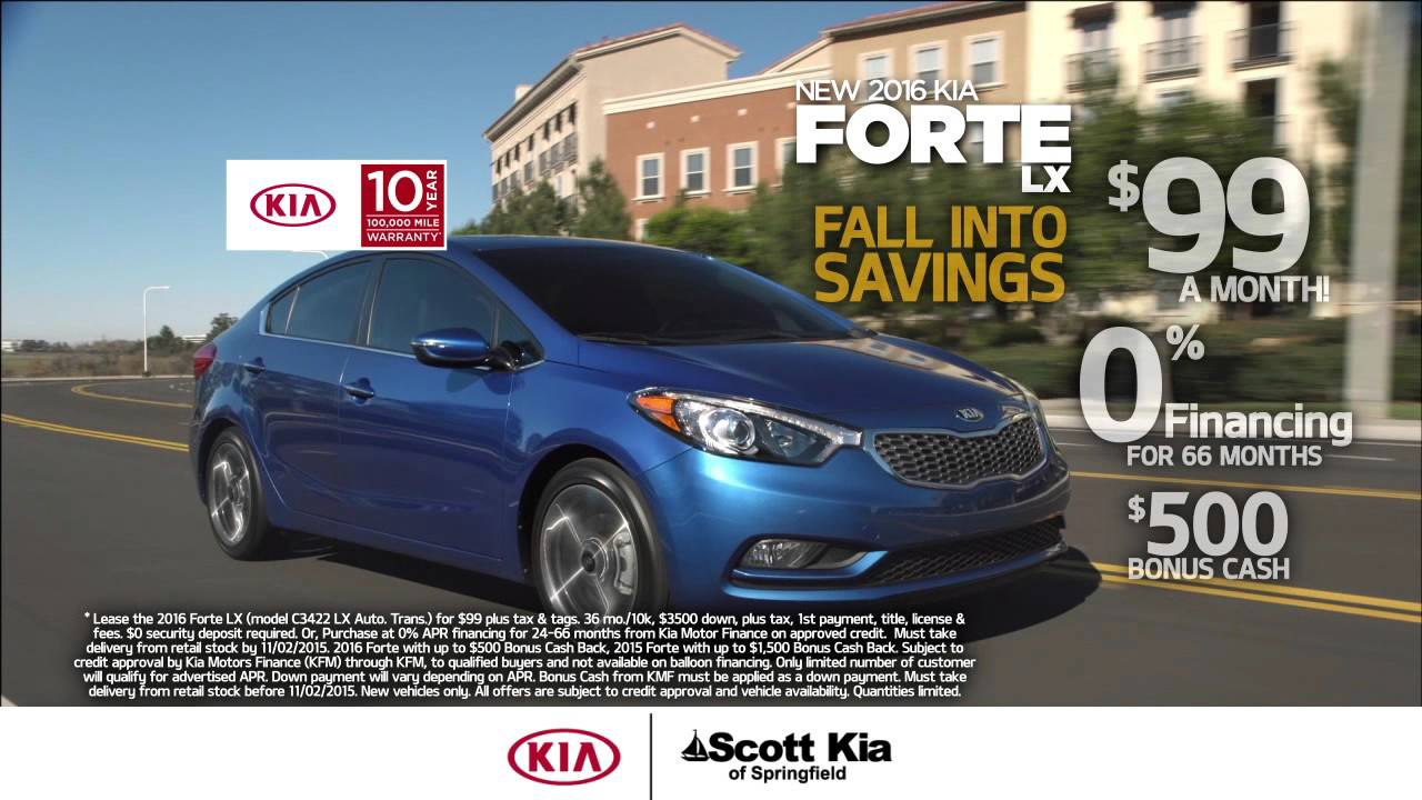 Kia Optima Lease 99 >> Scott Kia Of Springfield Lease The 2015 Kia Forte For 99 Month