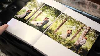 Italian Seamless wedding album with Crystal Glance Cover photographed in Kaleden, BC Okanagan