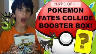 Pokemon XY Fates Collide Booster Box Opening - Part 1 of 2 - AWESOME PULLS! Jenna Em Channel