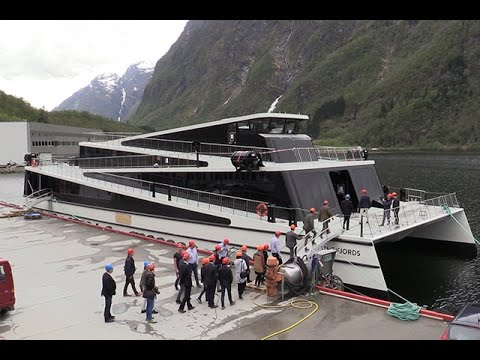 Carbon fibre electric hybrid ferry to clean up tourism in Norwegian fjords