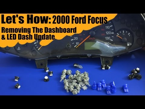 Removing Dash And Changing Lights In 2000 Ford Focus - Let's How