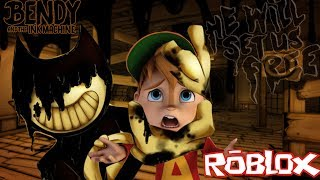 THE INK DEMON LOVE THE TASTE OF CHIPMUNKS | ROBLOX HORROR ELEVATOR [Bendy and the Ink Machine]