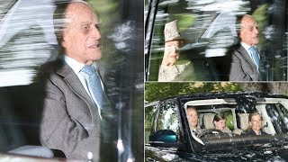 Prince Philip makes surprise appearance with the Queen & Lady Louise in Balmoral