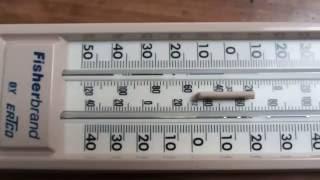 Thermometer broken column repair / Oprava přerušeného sloupce teplomeru