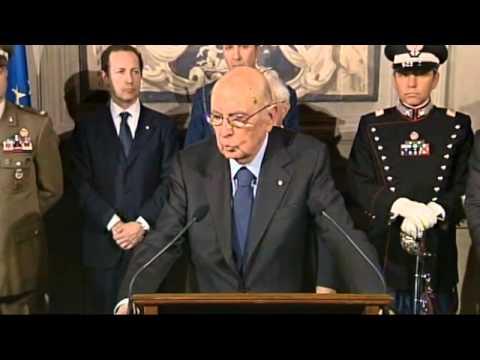 Discorso Napolitano Consultazioni Nuovo Governo Renzi - Dimissioni Letta