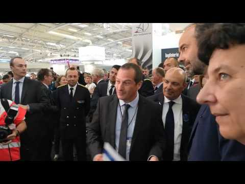 Visite Premier Ministre Edouard Philippe Stand CCA Bourget 2017