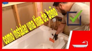 como instalar una tina de baño.