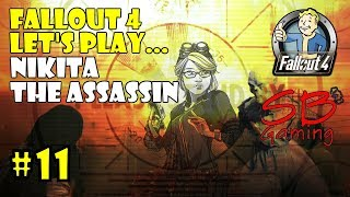 Fallout 4 Survival Mode Let's Play - Nikita the Assassin Seeks Out the DIA Cache - Part 11