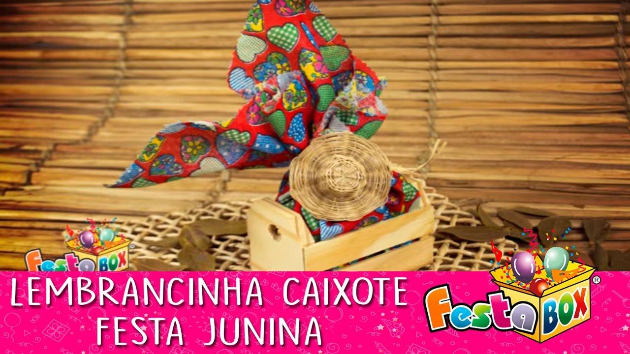 Como Fazer Lembrancinha Caixote para Festa Junina - YouTube b3c34a10199