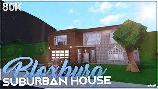ROBLOX Bloxburg | Suburban House Speed Build (80K)