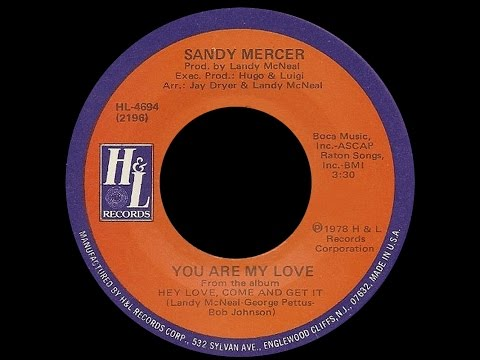 Sandy Mercer ~ You Are My Love 1978 Disco Purrfection Version