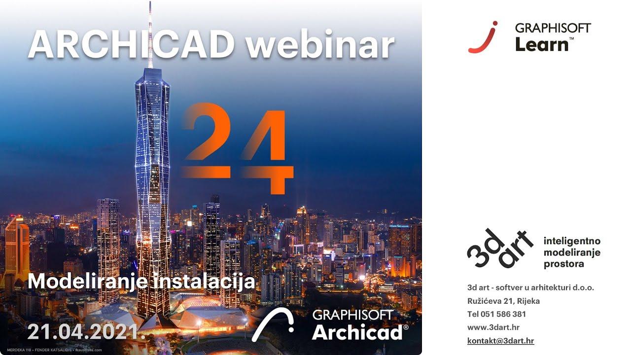 Archicad webinar: Modeliranje instalacija