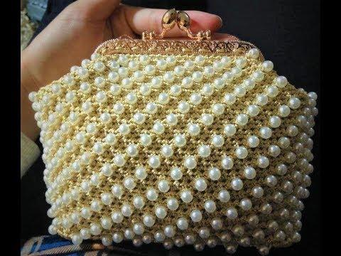 Part 1 – HD Móc Túi Khung 10,5cm Hạt Ngọc Trai (Guide frame bag crochet pearl beads)