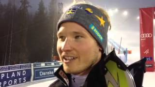 Jens Byggmark finishes 3rd in Opening Audi FIS Ski World Cup Slalom at Levi (FIN)