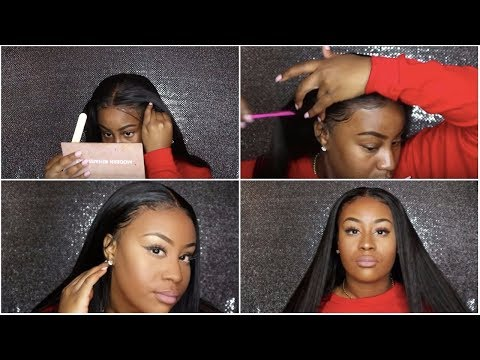 HOW TO TOUCH UP YOUR FRONTAL & LAY YOUR HAIR AT NIGHT | Nadula Hair