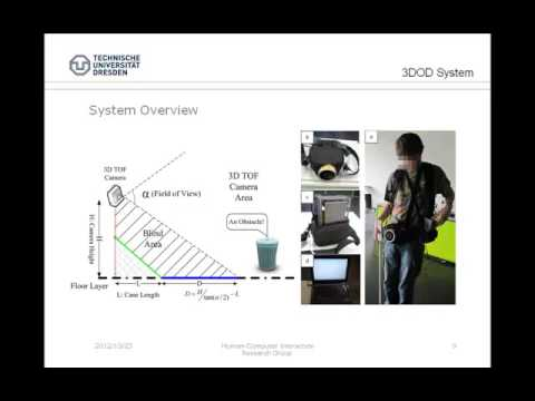A Video Talk about 3D Obstacle Detection System for ASSETS 2012