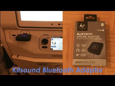 kitsound-bluetooth-airline-headphones-adaptor---review-&-how-to-pair-|-fix