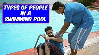 TYPES OF PEOPLE IN A SWIMMING POOL 🏊