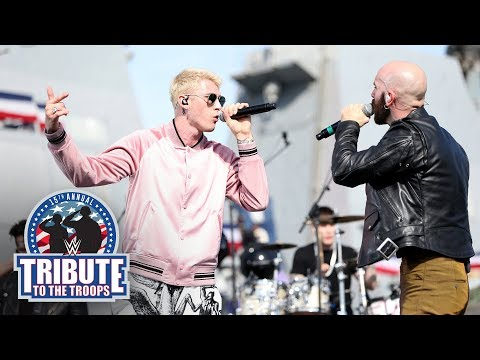 Machine Gun Kelly, Sam Harris and Bebe Rexha perform