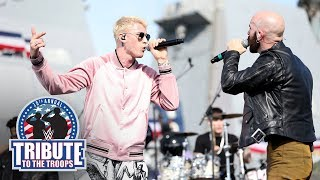 "Machine Gun Kelly, Sam Harris and Bebe Rexha perform ""Home"": WWE Tribute to the Troops 2017"