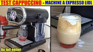 cappuccino machine à café lidl silvercrest expresso sem 1100 espresso machine espressomaschine