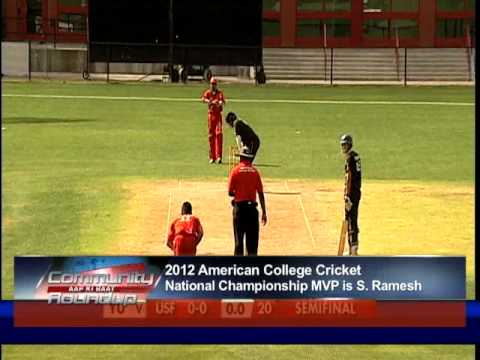 Sai Ramesh Is 2012 American College Cricket Championship Mp4