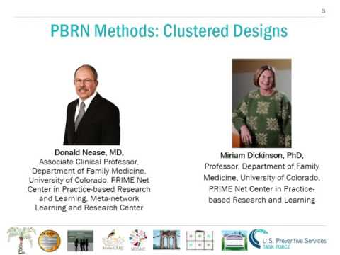 PBRMCert Session 6: Sampling and nested analyses in PBRNs (Dickinson)