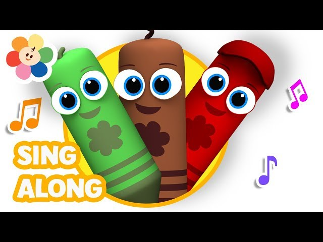 Five Little Crayons Jumping On The Bed | Nursery Rhymes & Baby Songs | Kids Songs