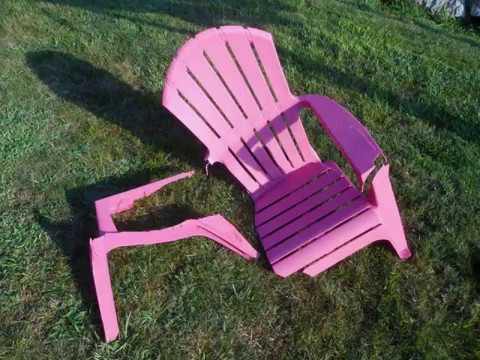 how to fix broken plastic chair office online would bryan a with epoxy youtube