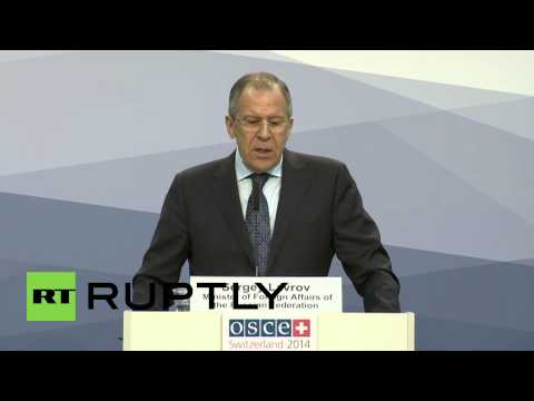 Switzerland: Watch Sergei Lavrov LAUGH at journalists question