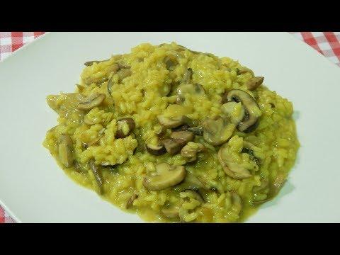 Receta fácil de risotto cremoso de champiñones y setas
