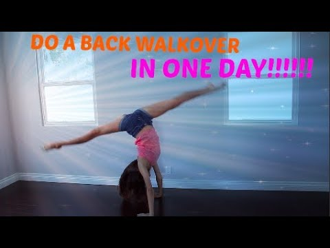How To Do A BACK WALKOVER In ONE DAY!!