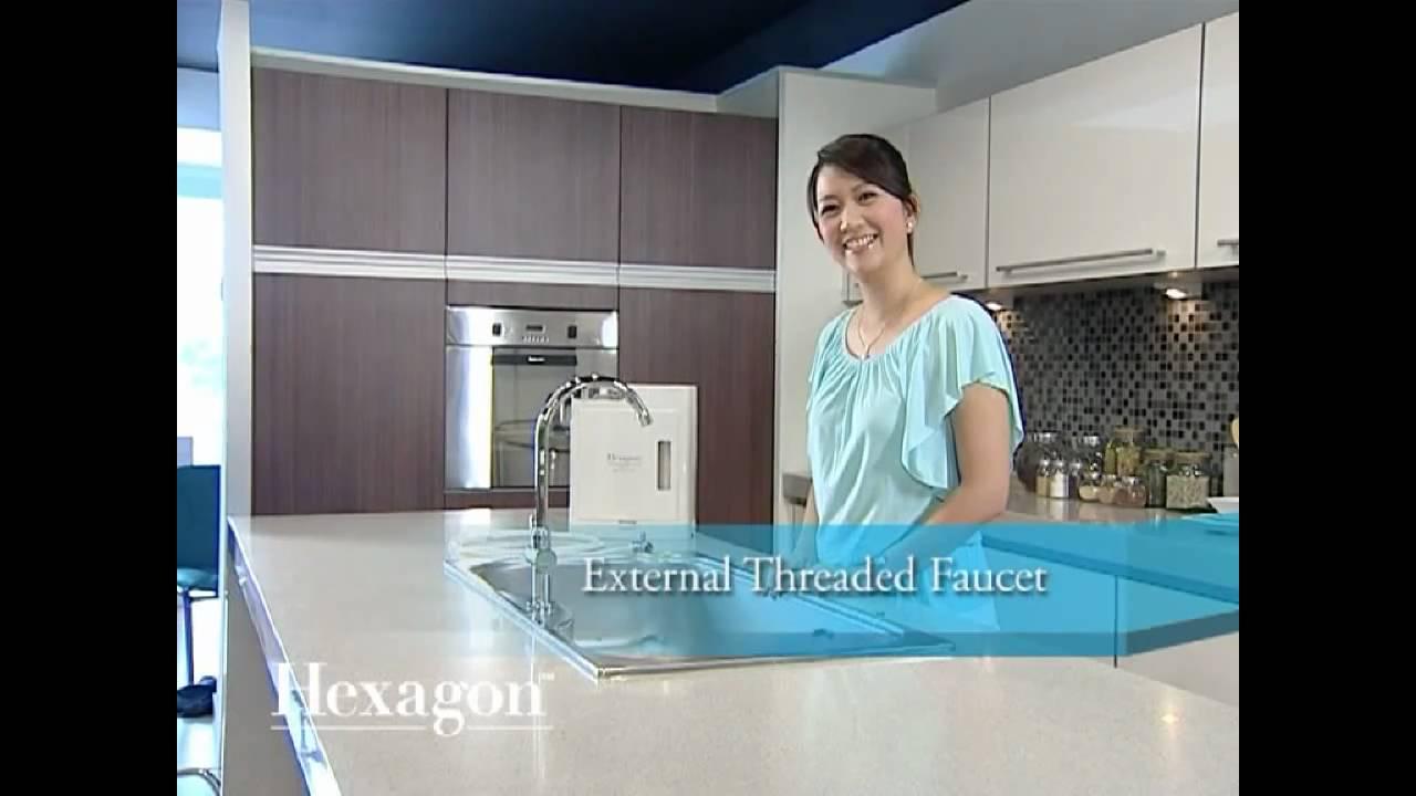 Hexagon Alkaline Hydrogen Water Filtration System Easy