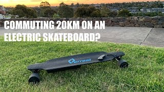 I ATTEMPT TO RIDE AN ELECTRIC SKATEBOARD 20KM TO WORK! VERREAL F1