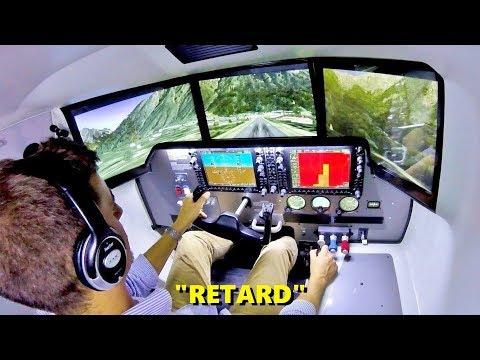 SLOPED Runway in a Full-Motion Flight Simulator! (VirtualFly OVO-04)