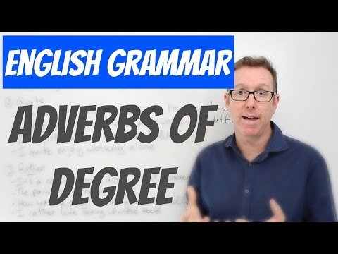 English lesson - Adverbs of degree: fairly, quite, rather - gramática inglesa
