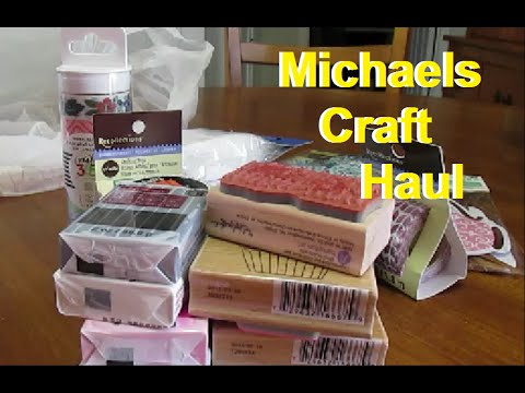 Michaels craft haul youtube for Michaels craft store watches