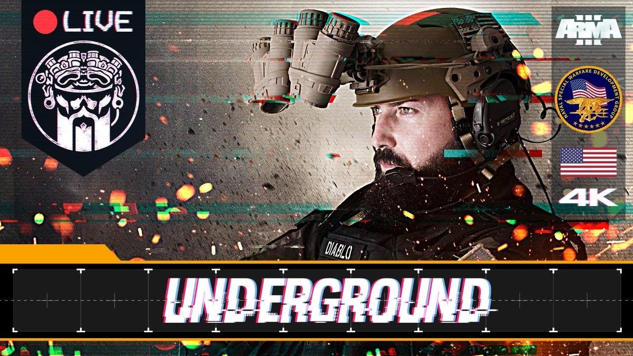 OPERACIÓN UNDERGROUND - ARMA3 4K -  SEAL TEAM VI DEVGRU  - SQUAD ALPHA - DIABLO HELMETCAM - Español