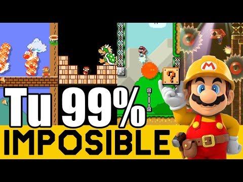 No Hay Tiempo para Pensar !! - 99% IMPOSIBLES de Suscriptores #29 | Super Mario Maker - ZetaSSJ