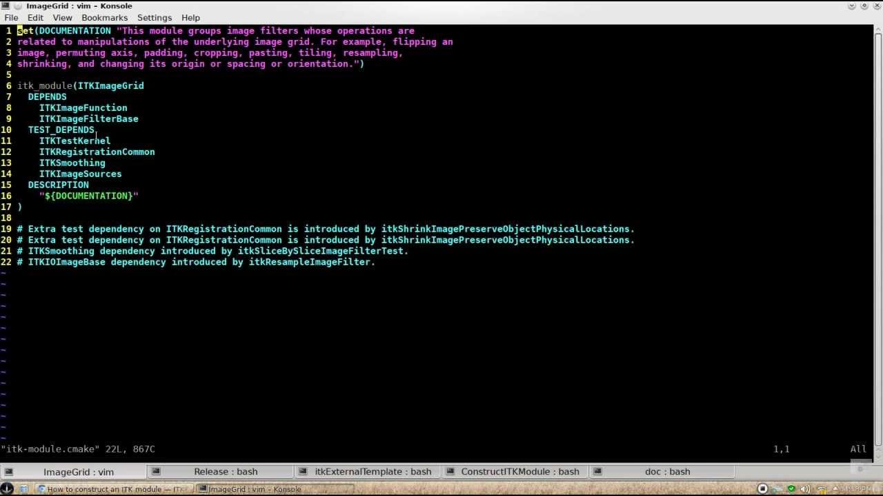How to construct an ITK module — ITKBarCamp documentation
