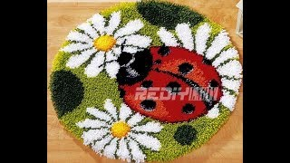 Diamond Painting - Product Review 35 THERE IS A LADYBUG ON MY RUG!!!