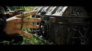 Пинтел и Раджетти. Команда Летучего Голландца гонится за сундуком. Джек открывает сундук. HD