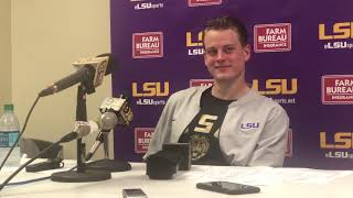 LSU's Joe Burrow on TD record, more: 'I was more focused on going get another one.'