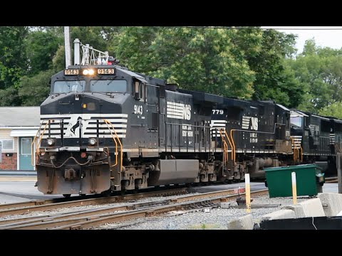 [HD] Chasing an Ethanol Extra on the Providence & Worcester Railroad with Four NS Units 6/25/15