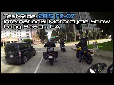 Test-Ride: 2015 FZ-07; International Motorcycle Show, Long Beach