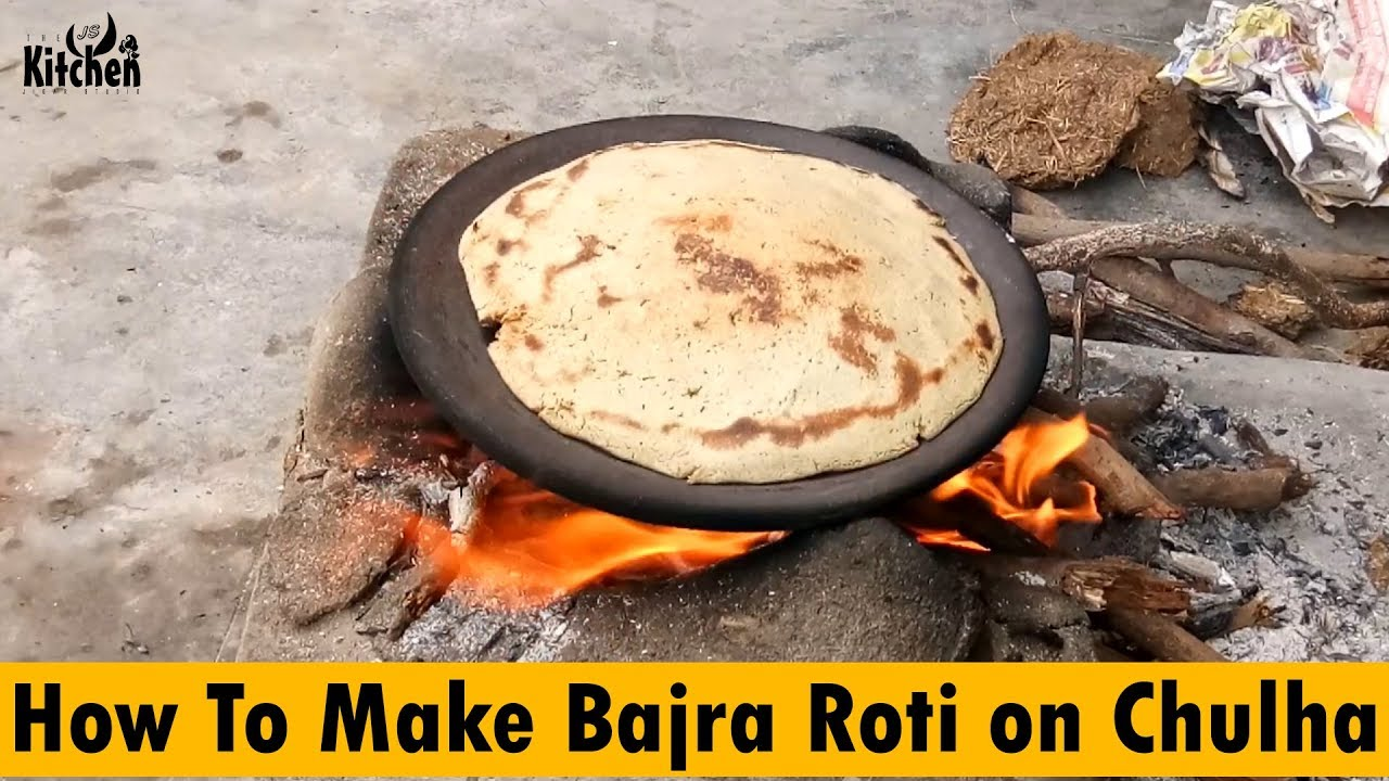 How To Make Bajra Roti On Chulha | Original Way To Make Bajara Roti | The JS  Kitchen