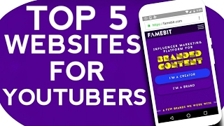 Top 5 Best Websites For Youtubers 2017 To Get More Views,Subscribers And Increase Youtube Earning