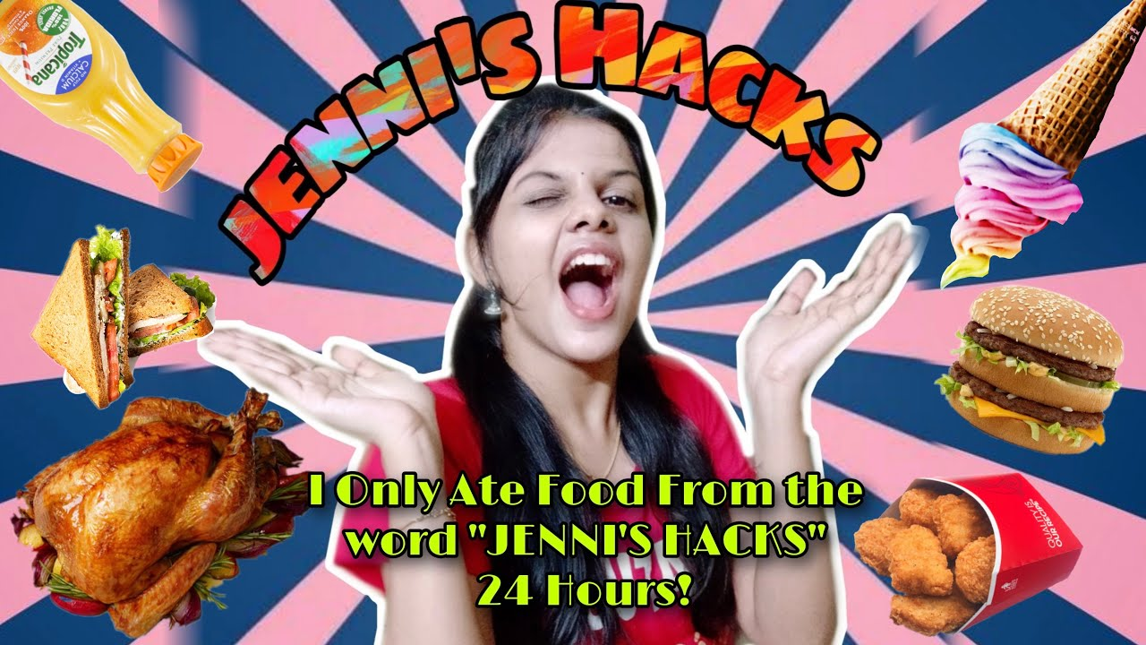 I Only Ate Food For *JENNI'S HACKS* word for 24 Hours!!||*TAMIL*|