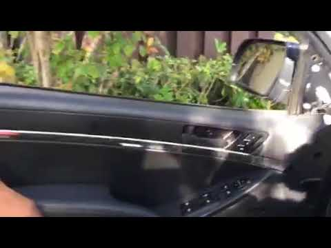 2011 Hyundai Veracruz Driver Side Front Door Inside Handle Removal Youtube