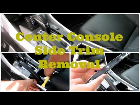DIY 2013 - 2017 Honda Accord Center Console Side Trim Removal -DiyCarModz
